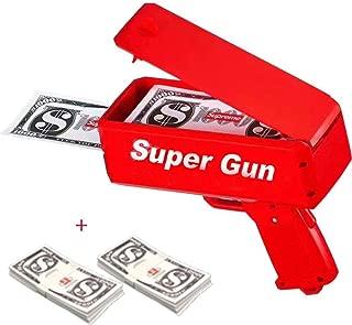 EAWE Money Gun Paper Playing Money Spary Money Gun Make It Rain Money Gun Drop Red