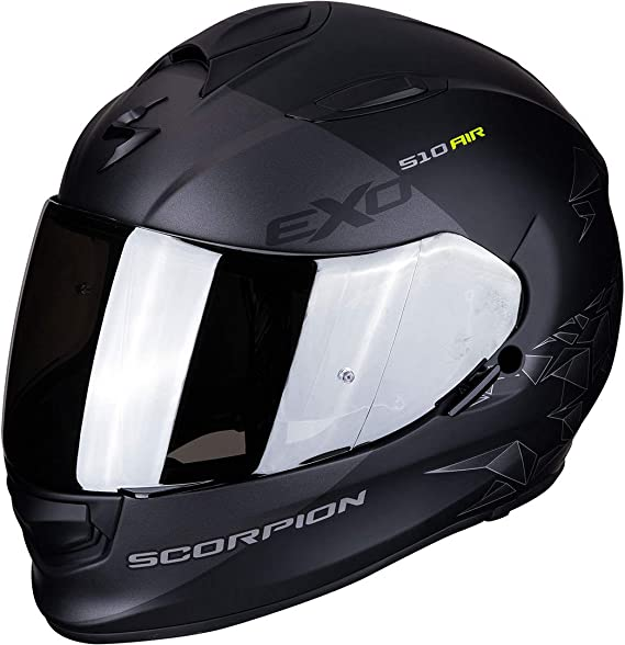 Scorpion Motorradhelm Exo 510 Air Pique Matt Black Silver Schwarz Grau S 51 271 159 03 Auto