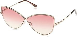 توم فورد نظارة شمسية نمط الفراشة للنساء , احمر , FT0569-28T