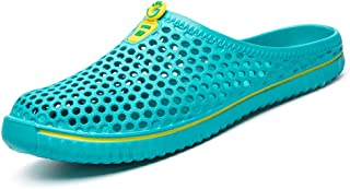 WOWEI Clogs Mules Mesh Quick-Drying Breathable Lightweight Slippers Slip On Garden Shoes for Womens Mens