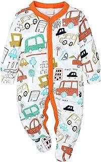 GYUANLAI Newborn Baby Boy Girl Long Sleeve Autumn Winter Pattern Warm Rompers Jumpsuit Bodysuit
