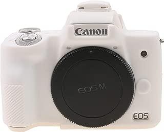 TUYUNG Camera Body Housing Case, Silicone Camera Case Protective Cover for Canon EOS M50 Digital Camera - White