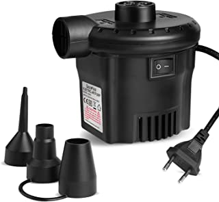 comprar comparacion Deeplee Bomba de Aire Eléctrica, Inflador Eléctrico 130W de Alta Potencia para Colchón Hinchable, Colchoneta Inflable, Pis...