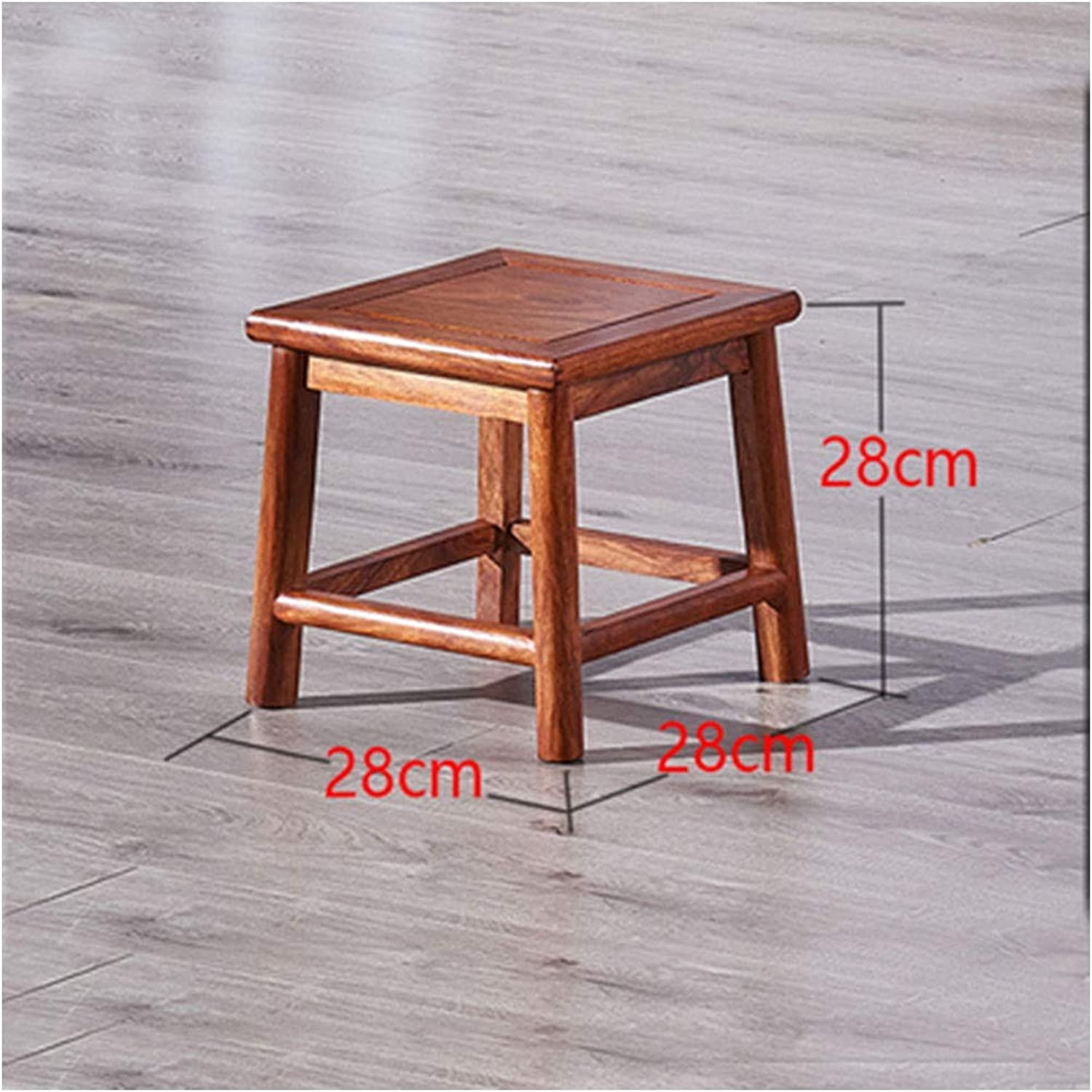 B.YDCM Wooden Bench- Small Square Stool pinkwood Coffee Table Low Stool Solid Wood Small Bench Living Room shoes Bench - Wood Bench (color   A)