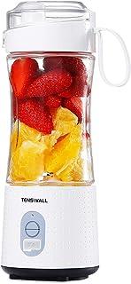 ミキサー ジューサー 380ml 6枚刃 ブレンダー USB充電式 一台多役 栄養補充 食品級材質 22000高速回転 ミルクセーキ/プロテイン 野菜/果物 ホワイト
