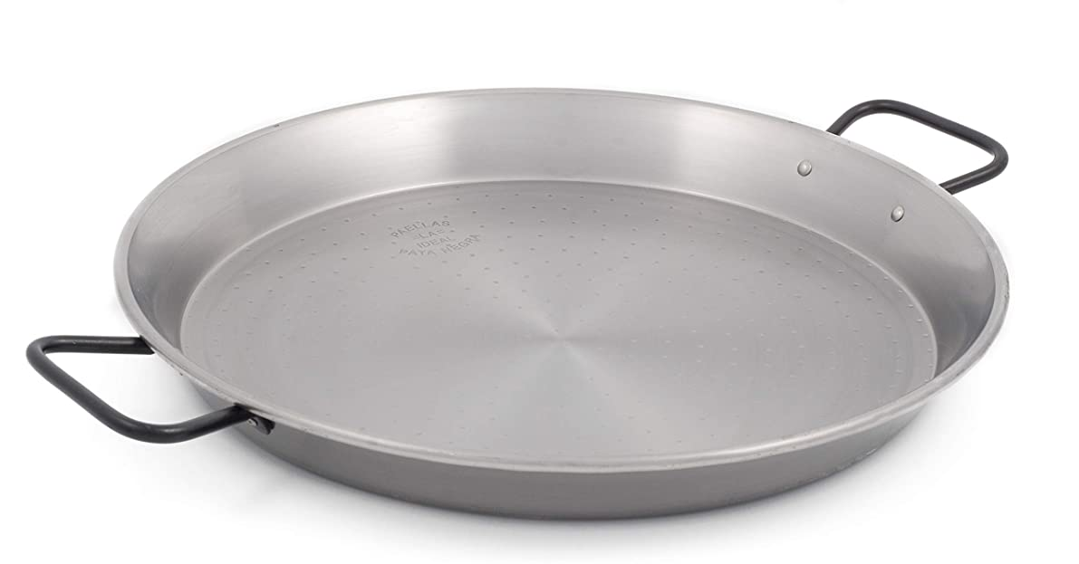 Garcima 16-inch Pata Negra Restaurant Grade Paella Pan, 40cm