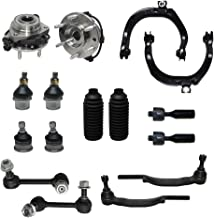 Detroit Axle - 16mm Tie Rod Ends Only Check Before YOU Order - Complete 16pc Front Suspension Kit - Front: 2 Wheel Bearings, 2 Upper Control Arms, All (4) Upper & Lower Ball Joints…
