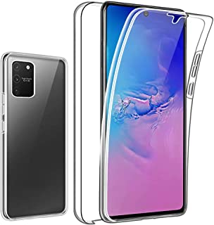 C-Super Mall-UK Coque pour Samsung Galaxy A10, Clear View Mirror Flip Stand Smart Cover Case Anti-Rayures Absorption des Chocs Fine