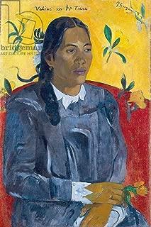 kunst für alle Art Print/Poster: Paul Gauguin Vahine No Te Tiare Maori Bride Woman with Flower Picture, Fine Art Poster, 25.6x39.4 inch / 65x100 cm