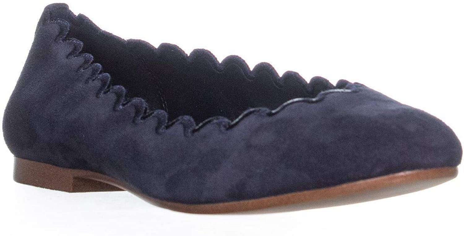 DKNY Womens Willow Suede Ballet Flats
