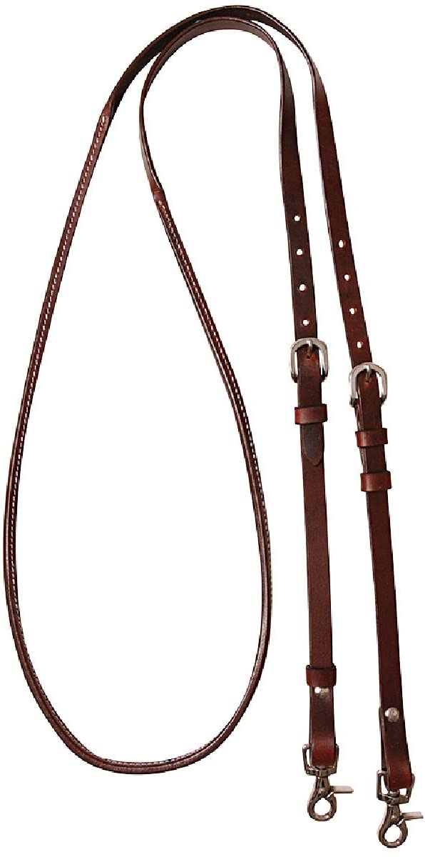 trend rank Cashel Company 8 Foot Adjustable Reins Shipping included Trim Rawhide w Chocolate