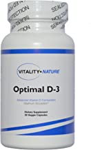 Vitality + Nature Optimal D-3, 5000 IU. Support The Immune System, Healthy Bone and Joints, and Heart, Brain and Muscle Function. Non-GMO Easy to Swallow 30 ct Vegetable Capsules by Dr. Osuna