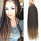 Befunny Crochet Braids Senegalese Twist Crochet Hair 8Packs 18 Inch Two Tone Black/Honey Blonde Small Micro Prelooped Crochet Twists Crotchet Braiding Hair Itch Free(18',T1B/27#)