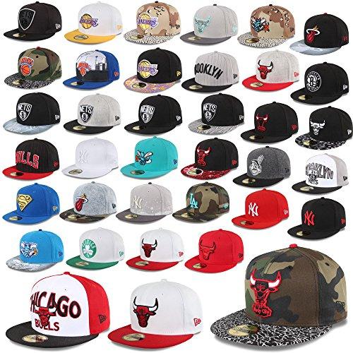 Unbekannt New Era cap 59Fifty Cappello su Misura New York Yankees Chicago Bulls Hornets Superman Reti NBA MLB UVM. - Chicago bulls-m21, 7 1/4-57,7 cm