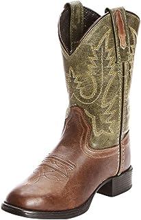 Old West Boys' Ultra Flex Chocolate Cowboy Boot Chocolate