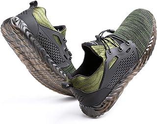 Scarpe Antinfortunistica Uomo Donna con Punta in Acciaio Scarpe da Lavoro Leggere e Comode Sneaker da Cantiere Nero Blu Gr...