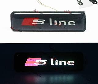 Gooogo SL-LED Sline LED Light Car Front Grille Badge Illuminated Decal Universal For All A3 4 5 6 7 Q3 5 7 TT