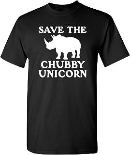 Feelin Good Tees Save The Chubby Unicorn Mens Sarcastic Offensive Very Funny T-Shirt