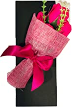 ShopAIS Dark Pink Rose with Gift Box and Carry Bag - Best Gift On Valentine's Day,Rose Day. Pink Dipped Rose with Gift Box