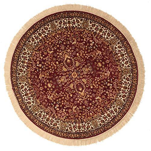 RugVista Kerman Diba - Rot Teppich Ø 150 Orientalischer, Rund Teppich