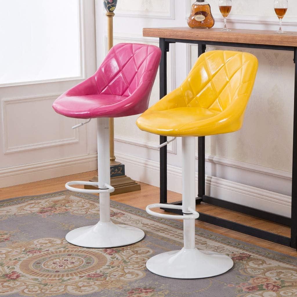 Tabouret de bar de petit déjeuner Tabouret de bar, Ascenseur de chaise simple, Dossier d'accueil Café Dossier Chaise haute (Couleur : G) O