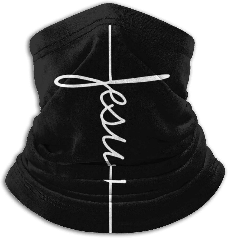 Jesus Signature Neck Gaiter Warmer Balaclava Windproof UV Protection Face Mask Scarf Bandana for Outdoor Sports Black