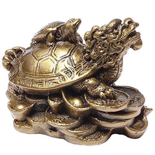 Feng Shui resina dragón tortugas Estatua Decoración del hogar regalo