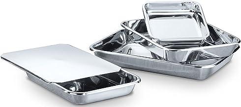 Hammer Stahl MI-138 Rectangular Bake Bakeware Set, Stainless Steel