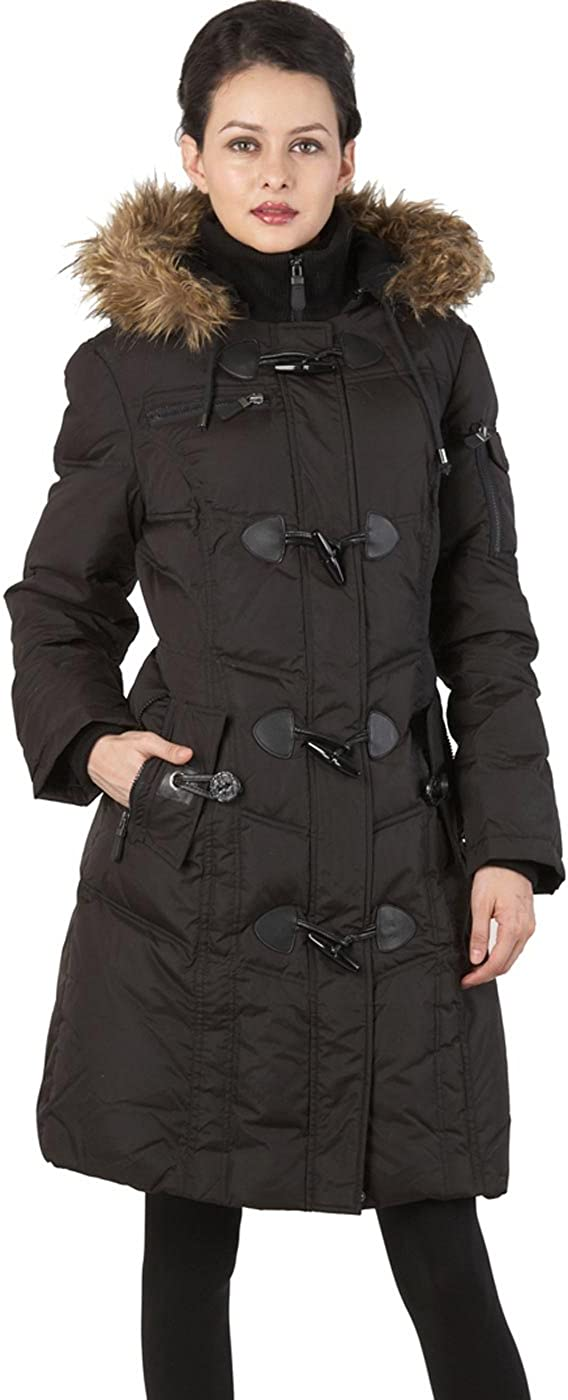 BGSD Women's Waterproof Quilted Down Toggle Coat (Regular and Plus Size)