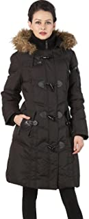 Women's Waterproof Quilted Down Toggle Coat (Regular & Plus Size)