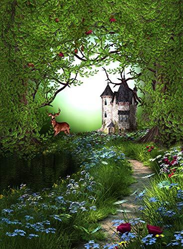 500 piezas de rompecabezas para adultos Fairyland Flowers Bush Castle Pattern Tamaño grande, rompecabezas de madera de alta calidad