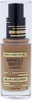 كريم اساس ميراكل ماتش من ماكس فاكتور 30 milliliters برونزي