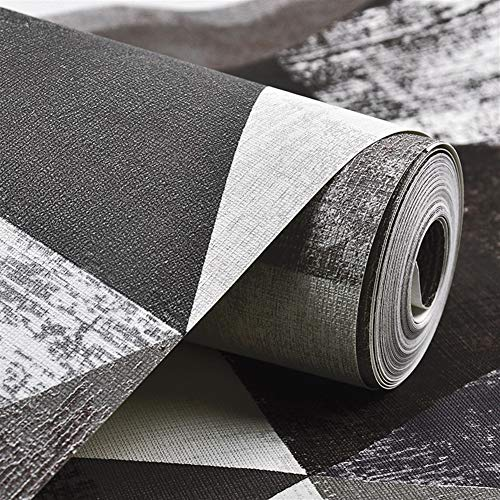 Jidan Nordic Stil Geometrische Kombination Muster Tapete Full of Wohnzimmer Schlafzimmer Licht Komfortable Moderne minimalistische Mode Tapete Removable Tapete (Color : D)
