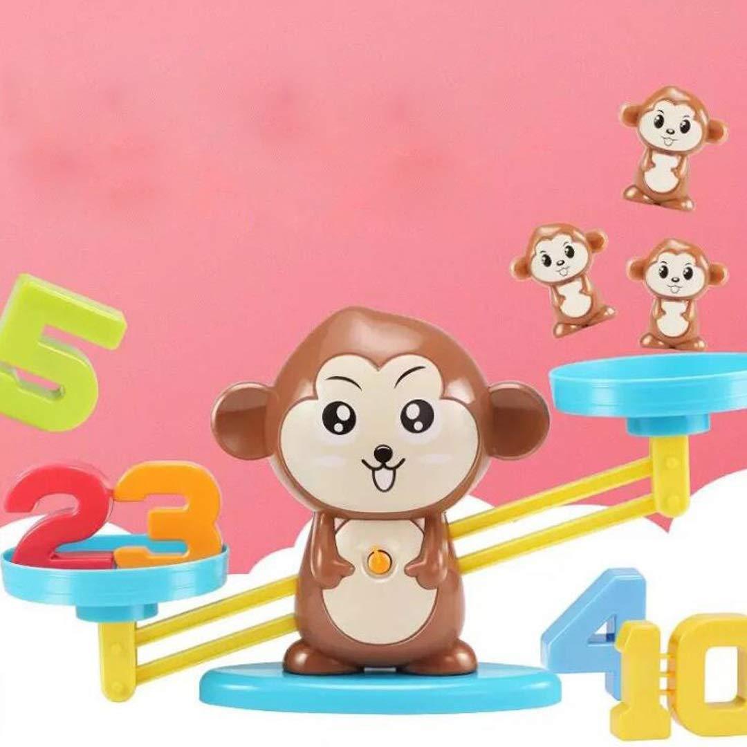 MKJYDM Pequeño Mono Balanza Balanza Escala Digital Suma Y Resta Matemática Juego De Mesa Juguetes for Niños Juguetes Inteligentes para niños: Amazon.es: Hogar
