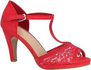 nueva estilos f61e0 56006 Amazon.es: zapatos rojos de tacon - 8 - 11 cm / Zapatos para ...