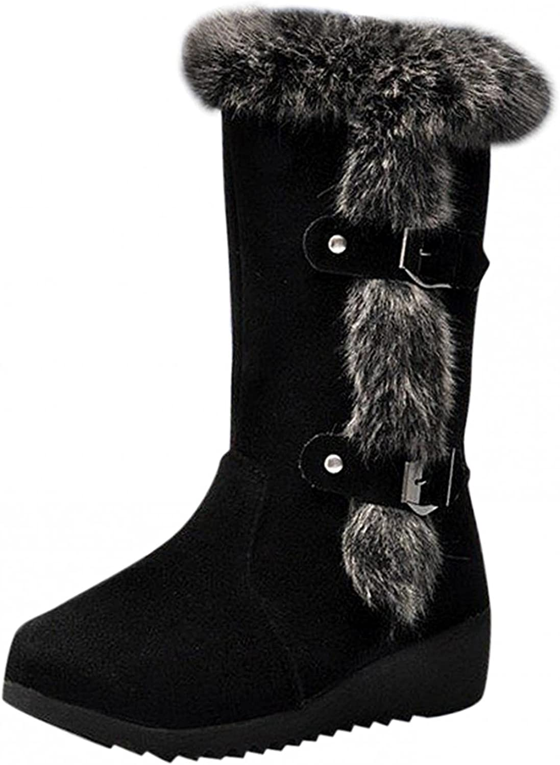 Aniywn Snow Boots Womens San Diego Mall Faux Winter Fresno Mall Bootie Fur Suede