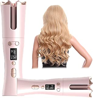 Auto Rotating Ceramic Hair Curler,Cordless Automatic Curling Iron,Beach Hair Waver,Hair Curlers for Long Short Hair with L...