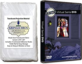 Kringle Bros The Original Virtual Santa in The Window Movie on DVD. Includes High Resolution Rear Projection Screen