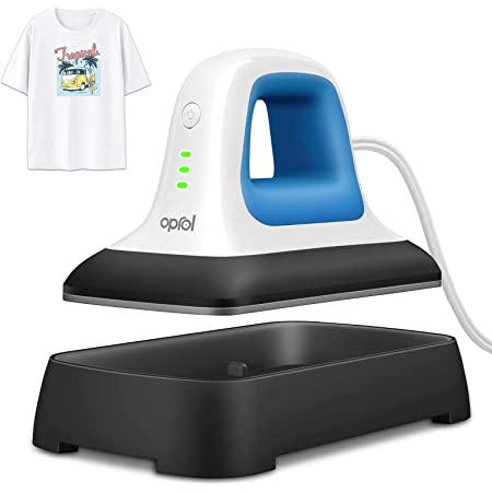 "Oprol Heat Press, 7"" x 3.8"" Heat Press Machine for T Shirts Shoes Bags Hats and Small HTV Vinyl Projects, Portable Mini Easy Heat Press Machine for Heating Transfer (Heat Press Mat Included)"
