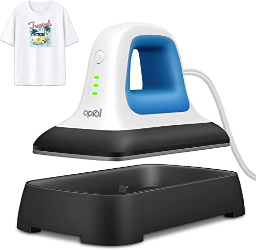 "Oprol Heat Press, 7"" x 3.8"" Heat Press Machine for T Shirts Shoes Bags Hats and Small HTV Vinyl Projects, Portable Mi..."