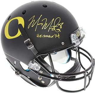 Marcus Mariota Autographed Signed Oregon Ducks Schutt Black Matte Full Size Replica Helmet - with Heisman 14 Inscription - PSA/DNA Authentic