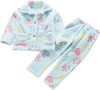 comprar comparacion Pijamas Niños Niñas Ropa De Dormir Collar De Mantón Halloween Terry Housecoat Bata Pijama
