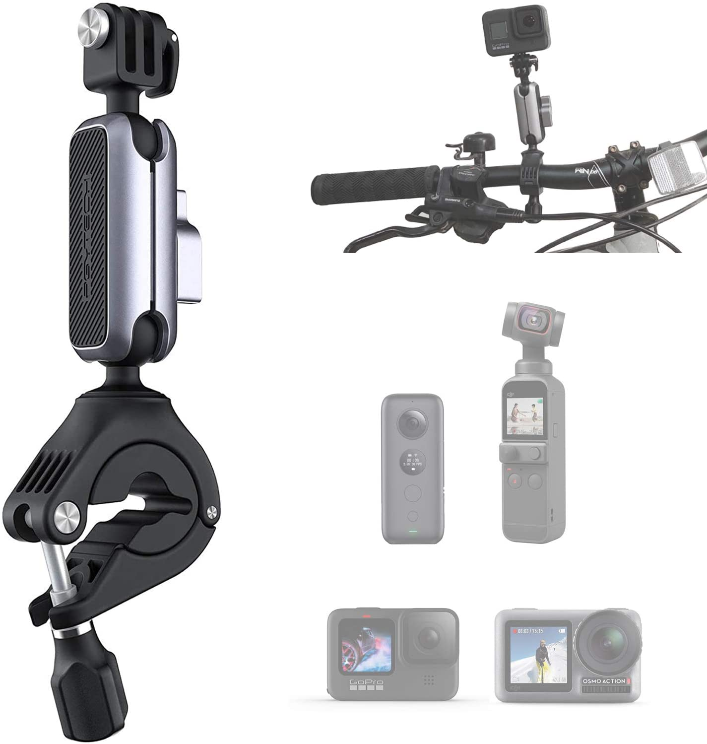 PGYTECH Action Challenge the lowest Purchase price Camera Handlebar Mount p osmo Compatible DJI with