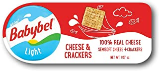 Mini Babybel Light Cheese and Cracker, 1.06 Ounce -- 10 per case.