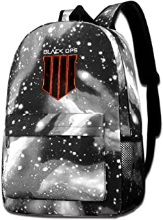 MichaelJMichaels Unisex Galaxy Backpack Call of Duty Black Ops 4 Bookbag for School College Student Travel Business