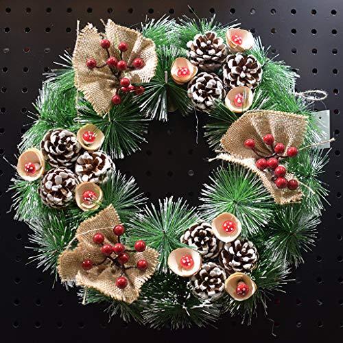 foshan Cgration Schneeflocke Nadeln Künstliche Tannenzapfen Weihnachtskranz Girlande Dekoration Hängende Haustür Wand Baum Ornament