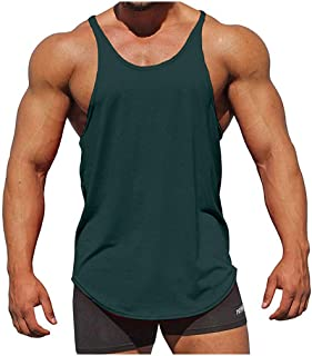 DADKA Men Tank Tops Summer New Solid Colors Sleeveless Muscle Workout Vest Top Blouse