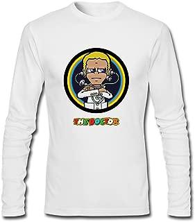 Feixia Men's Valentino Rossi DIY Cotton Long Sleeve T Shirt