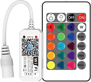 VIPMOON WiFi Wireless LED Smart Controller,Compatible with Alexa&Google Assistant&IFTTT,Working with Android,iOS System an...