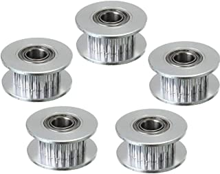 Xsentuals 5PCS GT2 Timing Belt Idler Pulley (20 teeth) 20T Aluminum Bore 5mm With Bearing For 3D Printer Accessories Belt ...